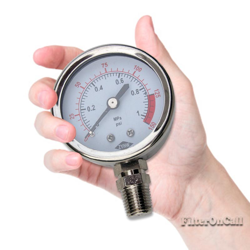 dry water pressure gauge 1 4 npt 150 psi for whole house reverse osmosis sys ebay. Black Bedroom Furniture Sets. Home Design Ideas